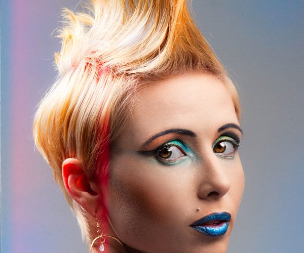 colorful hair 40 Staggering Mohawk Hairstyles