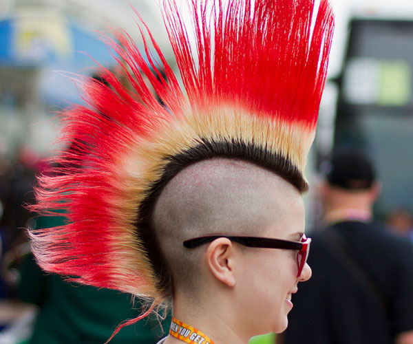 colorful mohawk 40 Staggering Mohawk Hairstyles