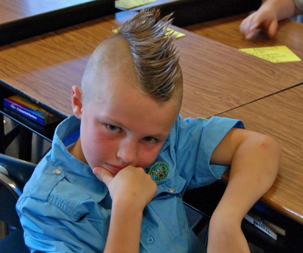first day of school 40 Staggering Mohawk Hairstyles