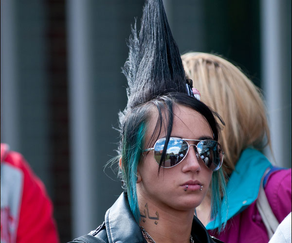mohawk on the street 40 Staggering Mohawk Hairstyles