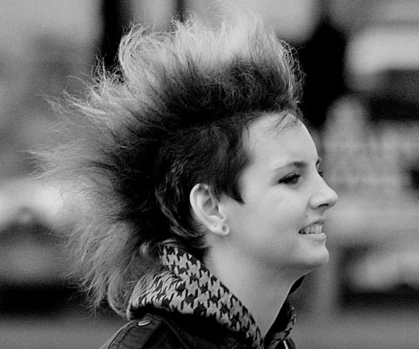 Bushy Mohawk Hairstyle