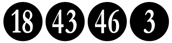 Black And White Numbers
