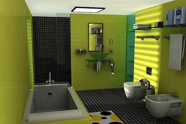 Exciting Bathroom Color Scheme