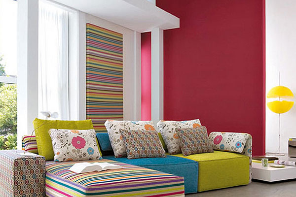 Rainbow Pattern Living Room
