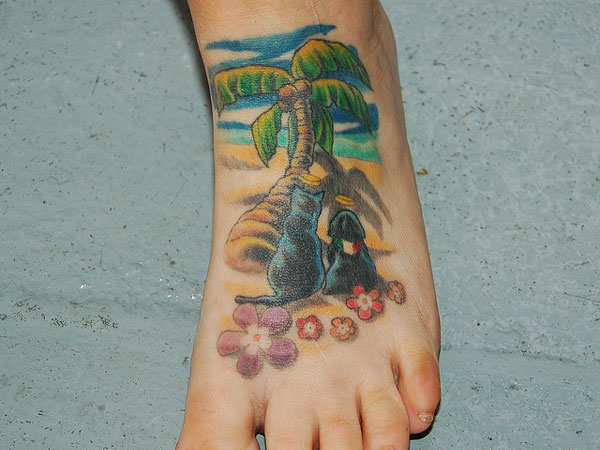 new foot tattoo 25 Spectacular Palm Tree Tattoo Designs