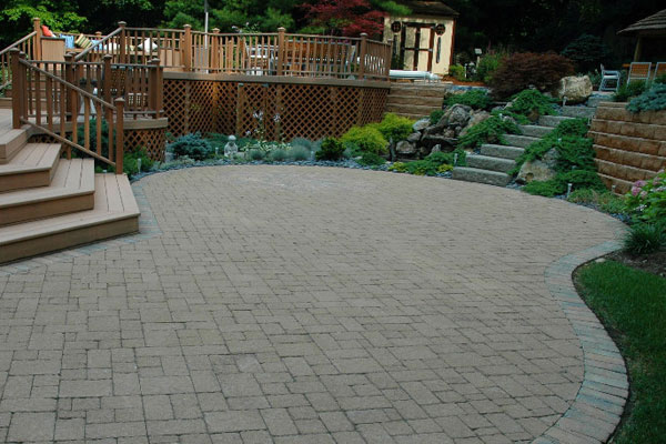paver boundary patio - Paver Patio Design Ideas