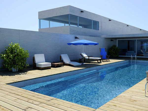 Soothing Pool House Design