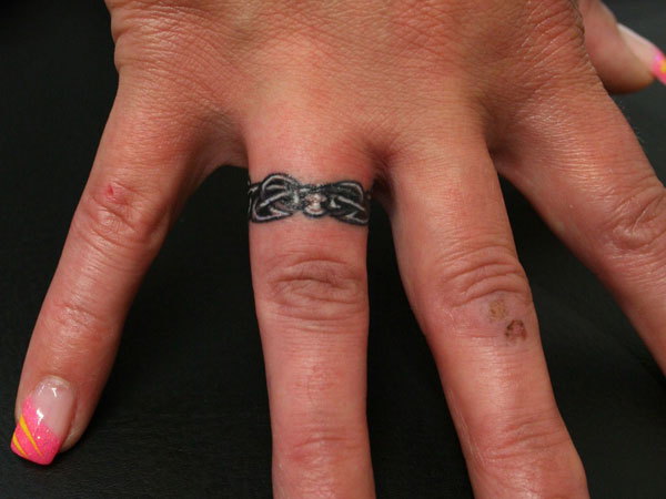 ring tattoo hand 25 Marvelous Ring Finger Tattoos