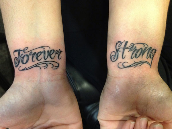 forever strong 35 Inspirational Script Tattoos