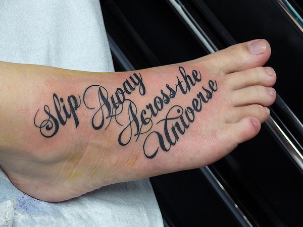 35 inspirational script tattoos slodive