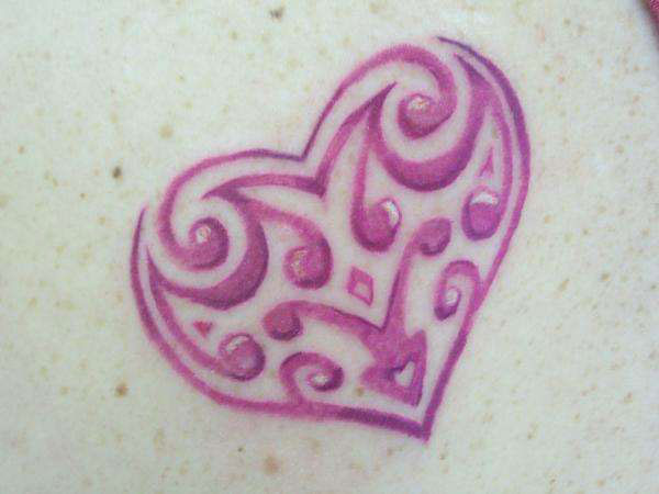 trible heart tattoo 25 Fantastic Simple Heart Tattoos