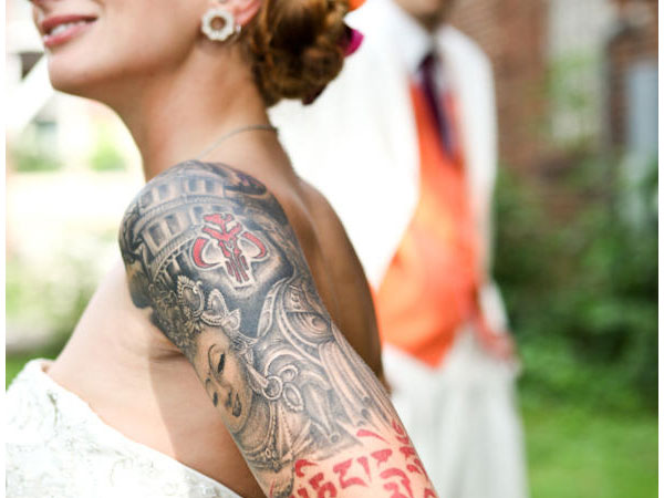 Bride Tattoo Sleeve