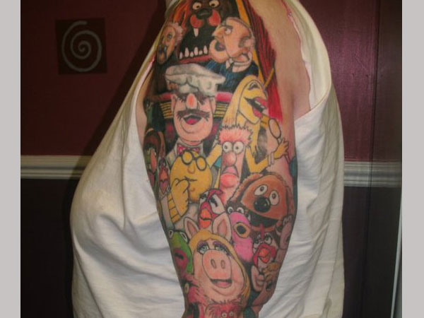 muppet sleeve 25 Fascinating Sleeve Tattoos For Girls