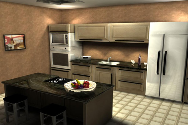 mental ray kitchen 35 Extraordinary Small Kitchen Designs