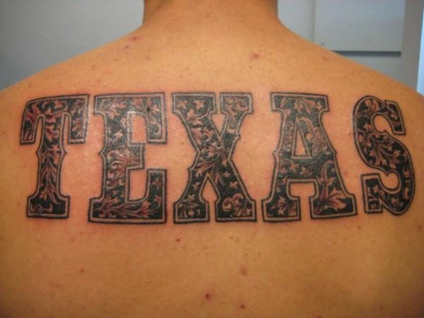 """TEXAS"" as Tattoo"