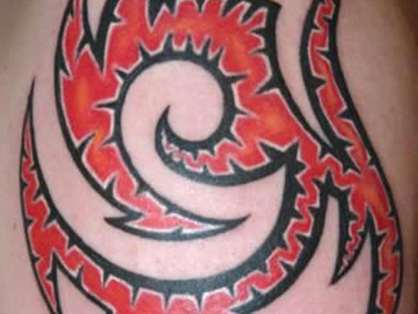 Bloody Tribal Tattoo
