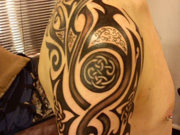 Celtic Knot and Tribal Tattoo