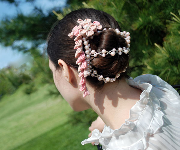 pink polish 35 Drool Worthy Updos For Weddings