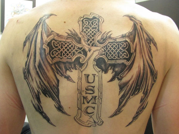 Winged USMC Tattoo
