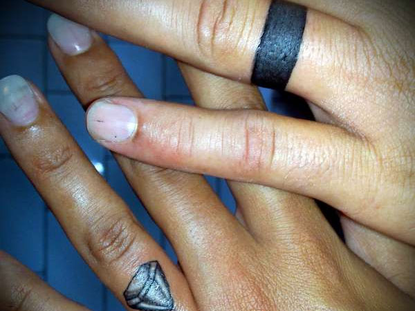 Couple Wedding Ring Tattoo