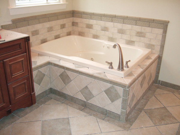 Bathroom Egyptian Tiling