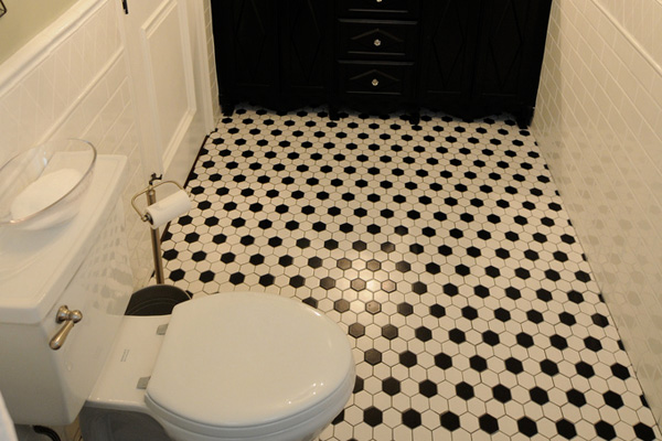 Bathroom Honeycomb Design Idea