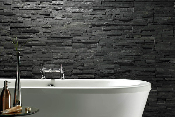 Rugged Black Bathroom Idea
