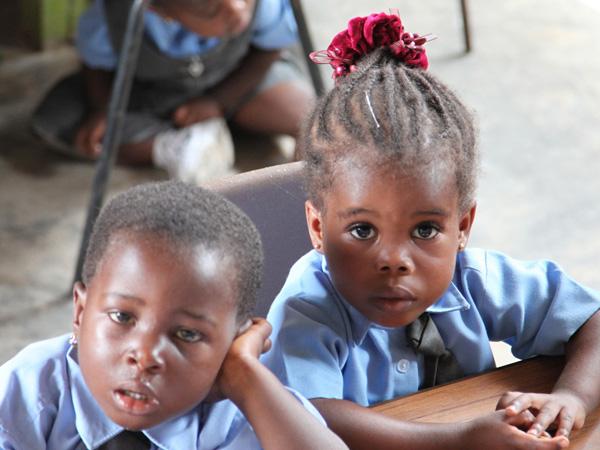 School Kids Black Hair
