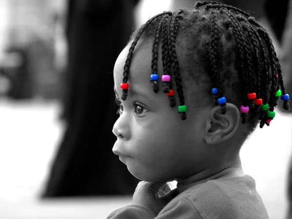 the girl 25 Lovely Black Kids Hairstyles