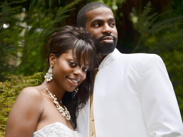 Retro Black Wedding Updo