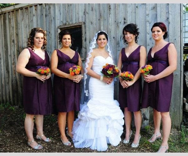 purple bridesmaid dresses 40 Gorgeous Bridesmaid Hairstyles