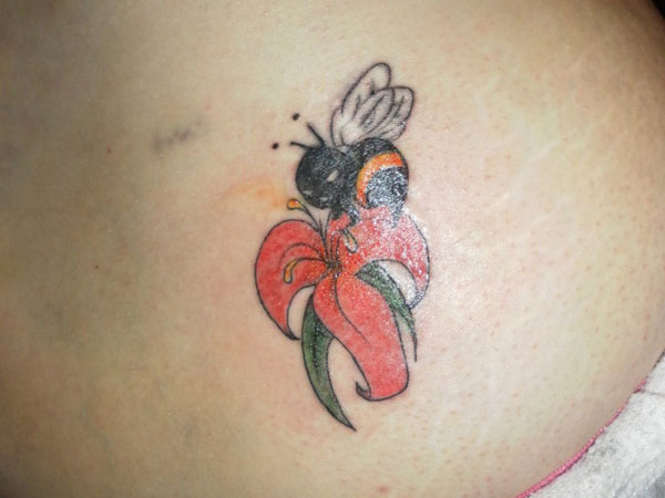 lower back tattoo 25 Cool Bumble Bee Tattoo