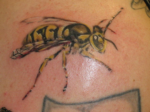 yellow jacket 25 Cool Bumble Bee Tattoo