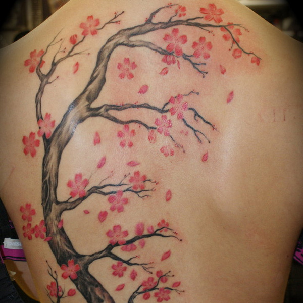 30 Artistic Cherry Blossom Tree Tattoo Slodive