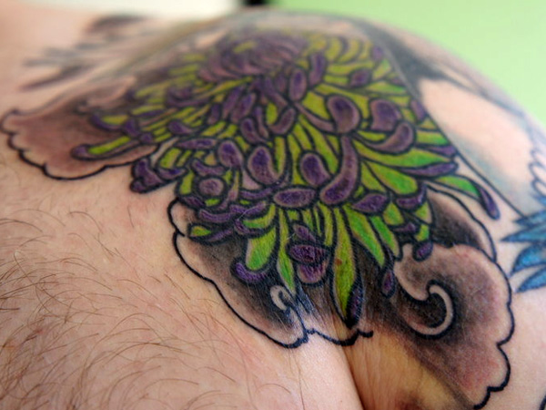 shoulder chrysanthemum tattoo 25 Unique Chrysanthemum Tattoo Designs
