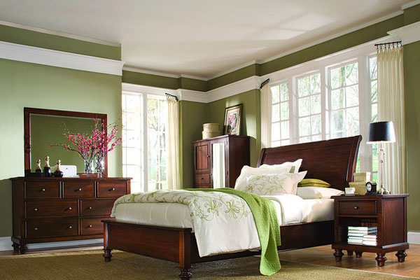 Green Fresh Bedroom