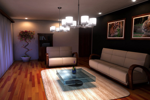 Spacious Contemporary Living Room