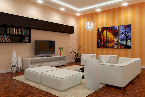 Warm Modern Living Room