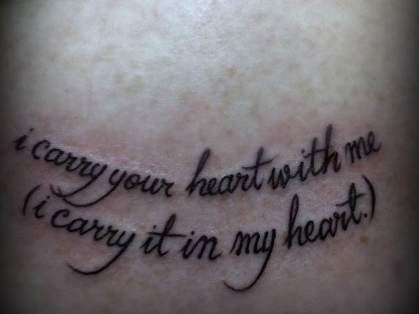 25 Warm Love Quote Tattoos - SloDive