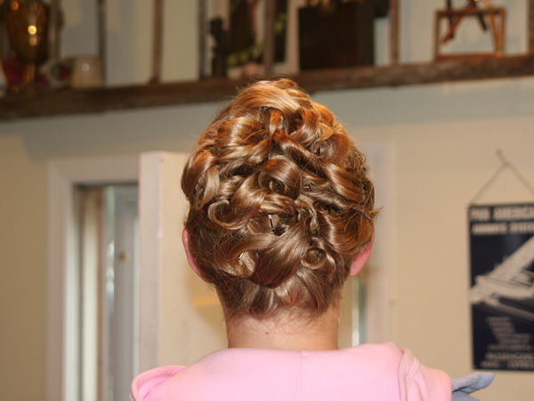 child updo 25 Pretty Curly Updo Hairstyles