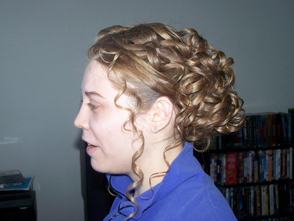 Ribbons Curly Updo