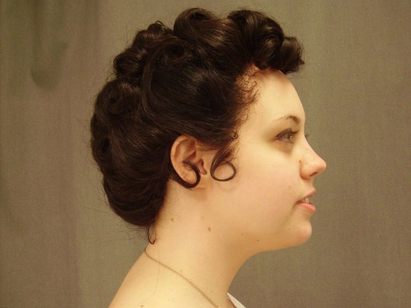 Dark Brown Puff Hairstyle