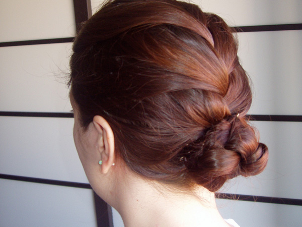 Braided French Cute Updo