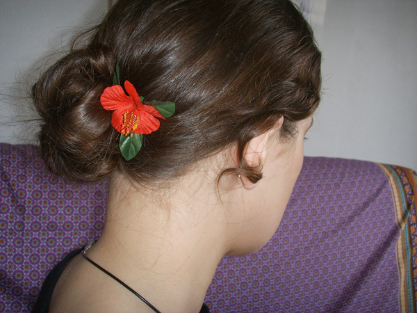 Updo Hairstyle Back View