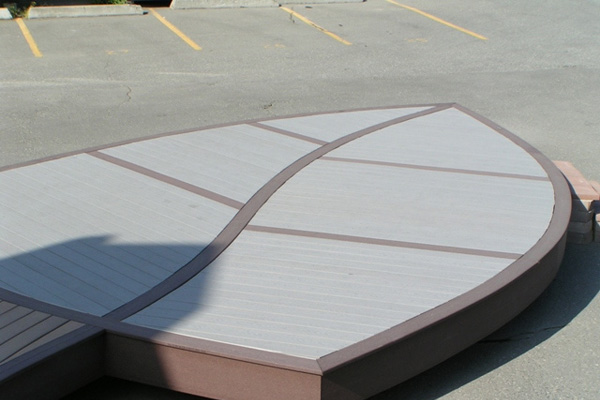 Leaf Shaped Deck