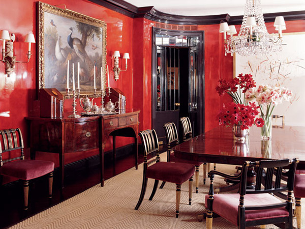 Red Dining Room Wall Decor 35 graceful dining room decorating ideas - slodive