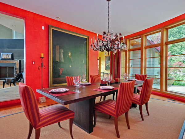 Red Dining Room. Traditional Dining Roomgates Interior Designa