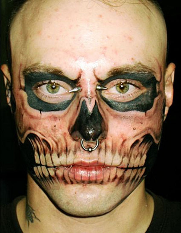 Extreme Face Tattoo