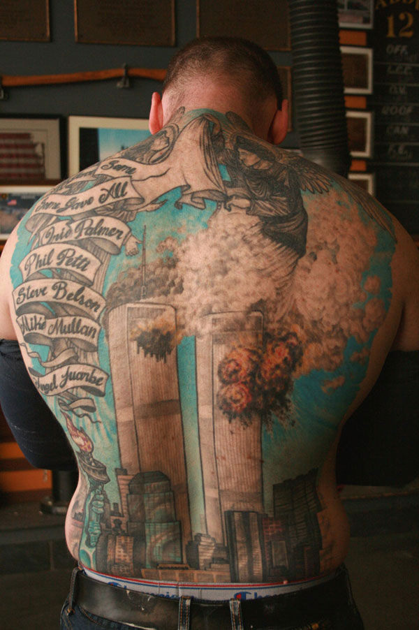 twin towers tattoo 20 Superb Extreme Tattoos
