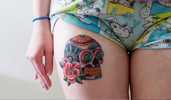 sugar skull 25 Helpful First Tattoo Ideas